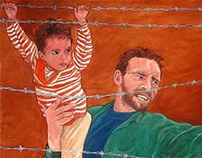 Refugees _ Father and Child