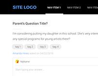 School Q&A UI