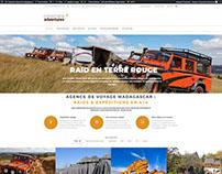 Site internet Corporate Adventures, voyagiste