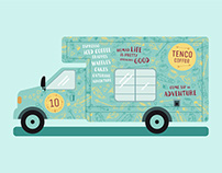 Tenco Coffee - Branding & Van Wrap
