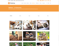 Gallery 3 Columns - Petshop WordPress Theme