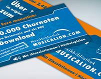 Anzeigengestaltung für Online-Musikbibliothek