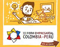 Dibujo en Vivo: III Foro Empresarial Colombia - Perú