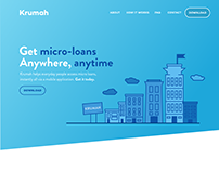 Krumah Landing Page Design - Micro Loans Application