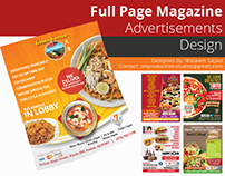 Full Page Magazine Advertisement Designs by Swan Media