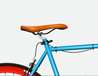 Bicicleta Hiperrealista Vector