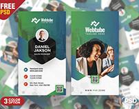 Premium Modern Vertical Business Card PSD