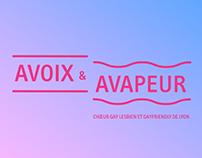 """""""A VOIX & A VAPEUR"""" GAY CHOIR BRANDING"""