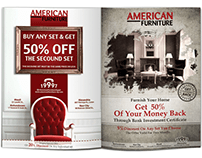 American Furniture advertising campaigns