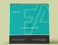 Fatima Al Ansari Desktop Calendar 2018