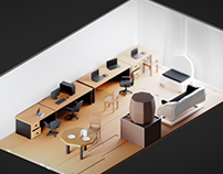 Lemonatio isometric office