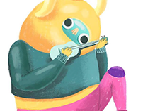 CHALK BRUSH - illustration