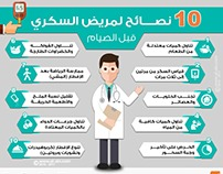10 tips for diabetics before fasting- Infographic