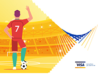 FIFA World Cup Ticket Sales Campaign illustration