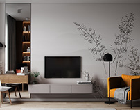 Interior 3D Render of an Apartment in Moscow, Russia
