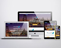 Responsive Website and branding for Advantech Event