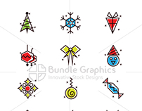 Christmas Celebration Elements by VecRas.com