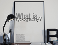 'What is Typography?' Poster