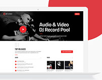 BpmSupreme: Music Djs Website UI/UX Design