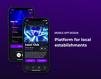 NEON CLUB - Mobile App Design