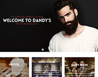 Dandy's Barber Lounge - Web Site