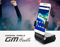 GM HANDLE - Desktop Dock and Handle for Mobile Devices