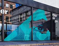 WINDOW TAPE ART // EYE LINER