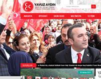 Yavuz Aydın (MHP) (Politician) Personal Website Design