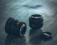 Nikon AF-S DX Nikkor 35m F/1.8G Lens Modeling&Rendering