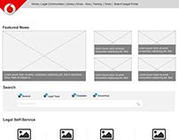 Self-service site - Wireframe