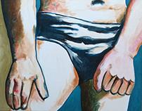 Slip, 2015 (50*40 cm - Acrylique sur toile)