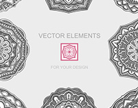 Set of vector elements for design. Graphic illustration