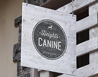 Heights Canine Logo Design
