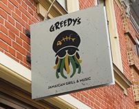 Greedy's Restaurant Branding
