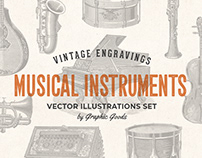 Musical Instruments - Engraving Illustration Set