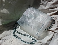 Translucent Textured Bag with Chain