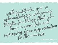 Inspiring Quotes with Rachel Krider