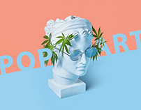 Pop art statues