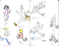 Personal Work - Moleskin Sketchbook Free-Hand Drawings
