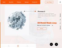 3D Adobe XD Template