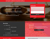 Estudio Jurídico Valeria Rapela - Landing Page