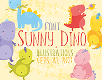 The $1 Sunny Dino Font + Bonus Illustrations