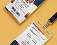 Free PSD : Creative Office Identity Card Template PSD