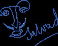 logotype of male barber