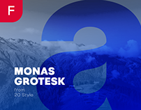 MONAS GROTESK - FREE BOLD SANS SERIF FONT
