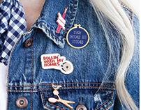 Designer Enamel Pins for Riley Blake Designs