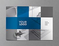 Minimal Blue Squares Brochure