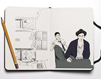 Frances Ha, sketch.