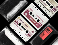 Scratched Dusty 80's Cassette Tape Photoshop Mockup PSD