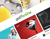 GolfOnline Website Rebrand